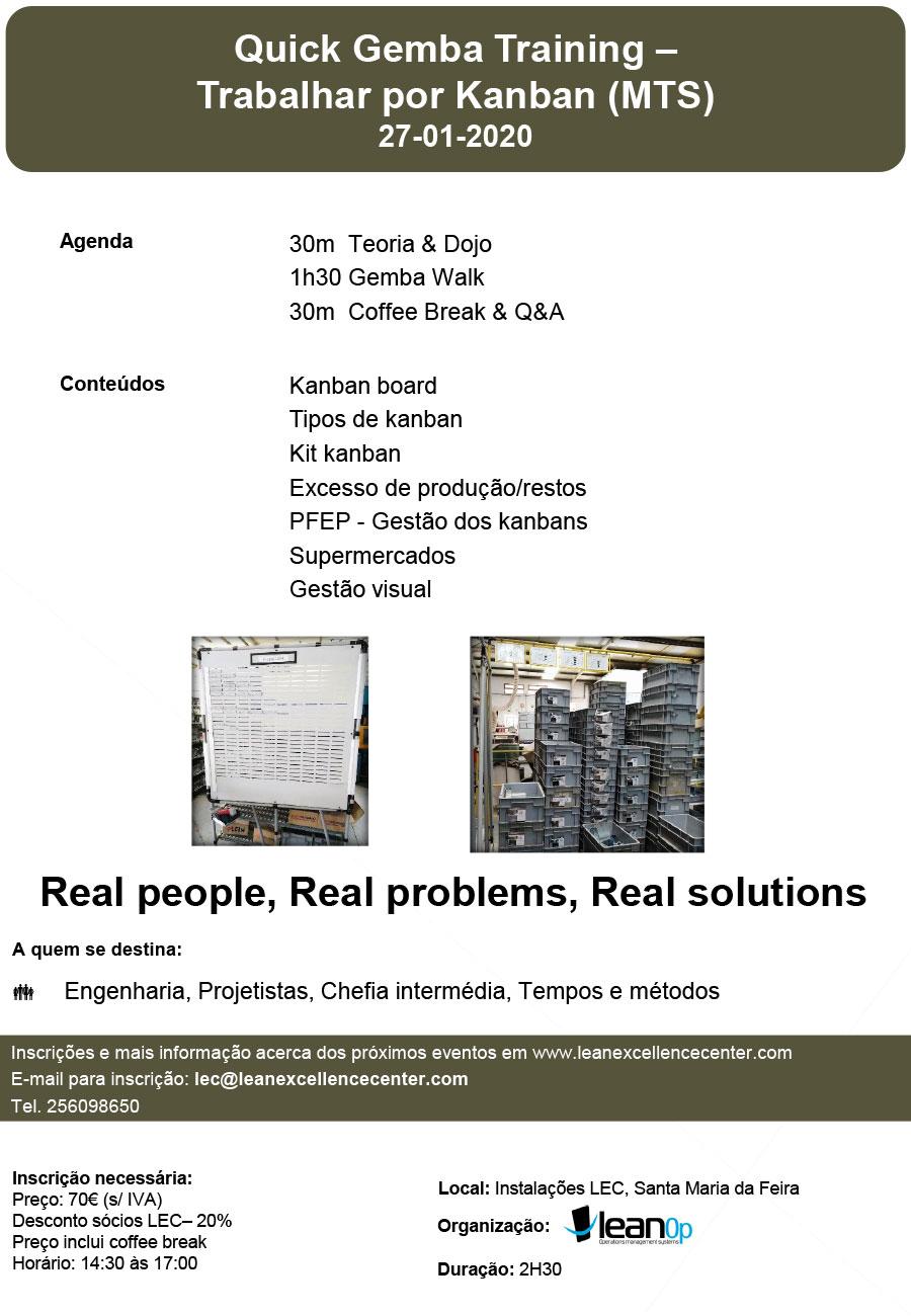Formação Quick Gemba: Trabalhar por Kanban (MTS) - 27 Janeiro 2020