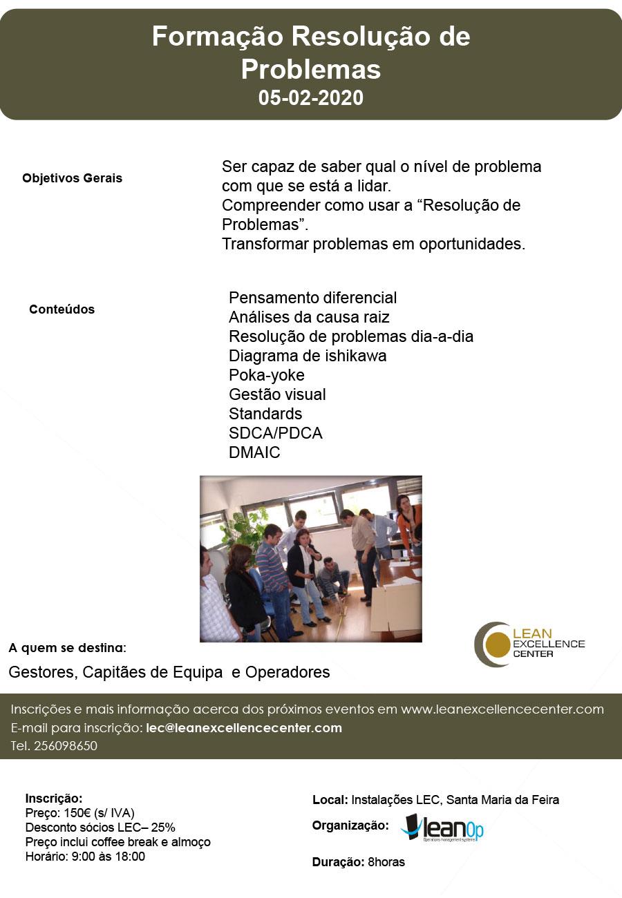 Formação Resolução de Problemas - 05 February 2020